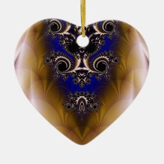 Fractal 349 ceramic ornament