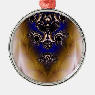 Fractal 349 metal ornament