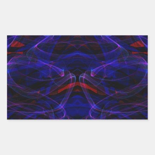 Fractal 34 de la llama pegatina rectangular