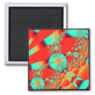 Fractal 39 2 inch square magnet