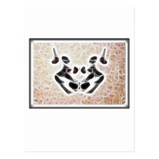 Fractal 3 de Rorschach Tarjeta Postal