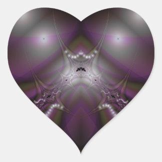 Fractal 413 pegatina en forma de corazón
