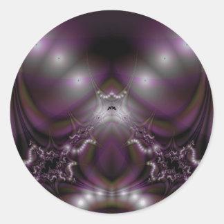 Fractal 413 pegatina redonda