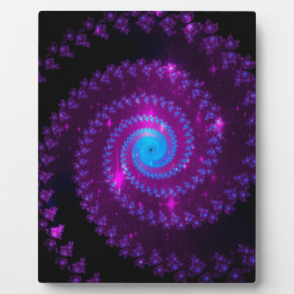 fractal-415456 fractal spiral space galaxy abstrac display plaque