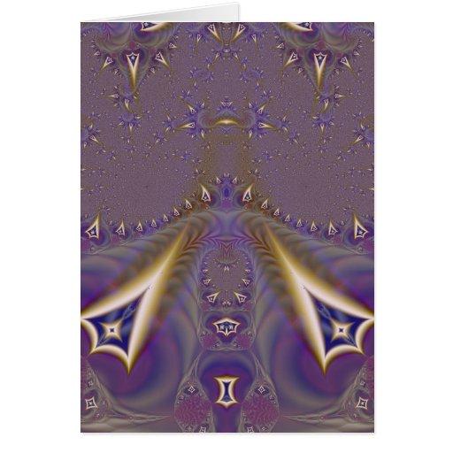 Fractal 443 tarjeta de felicitación