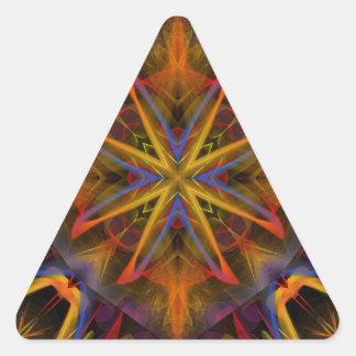 Fractal 459 del caleidoscopio pegatina triangular