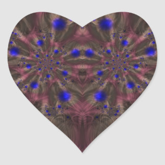 Fractal 459 pegatina en forma de corazón