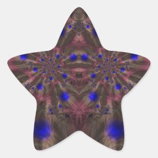 Fractal 459 pegatina en forma de estrella