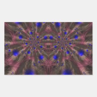 Fractal 459 pegatina rectangular
