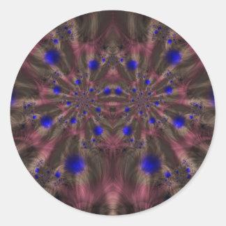 Fractal 459 pegatina redonda