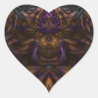 Fractal 460 pegatina en forma de corazón