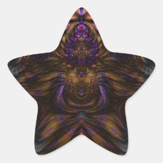 Fractal 460 pegatina en forma de estrella