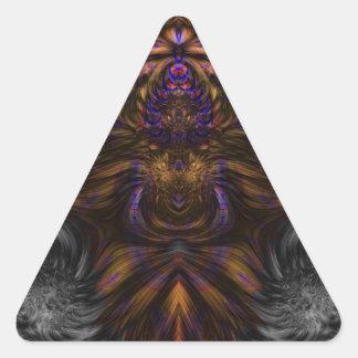 Fractal 460 pegatina triangular
