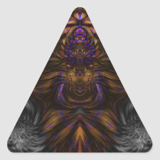 Fractal 460 triangle sticker