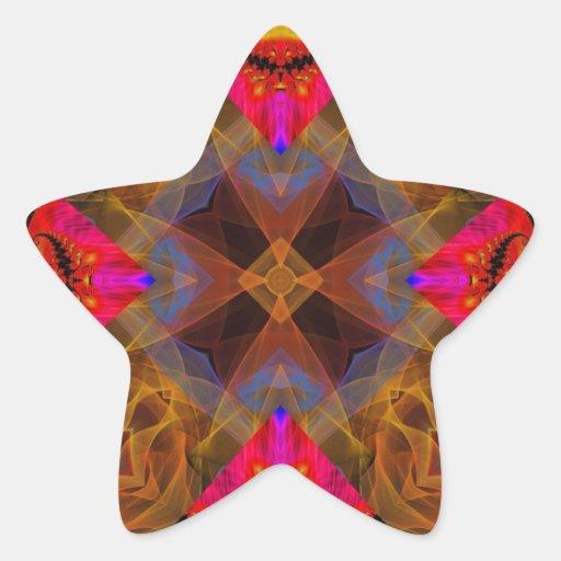 Fractal 461 del caleidoscopio calcomania forma de estrella