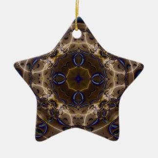 Fractal 467 ceramic ornament