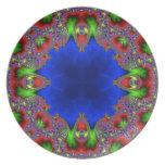 Fractal 484 del caleidoscopio platos