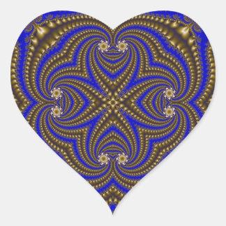 Fractal 510 heart sticker