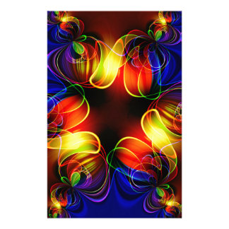 fractal-520451 fractal symmetry pattern abstract c personalized stationery