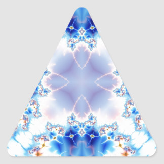 Fractal 536 del caleidoscopio pegatina triangular