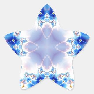 Fractal 536 del caleidoscopio pegatina en forma de estrella