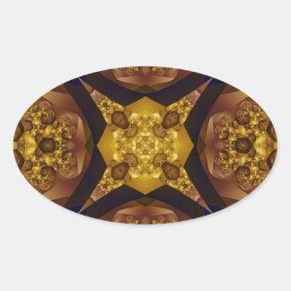 Fractal 536 pegatina ovalada