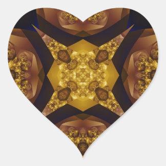 Fractal 536 pegatina en forma de corazón