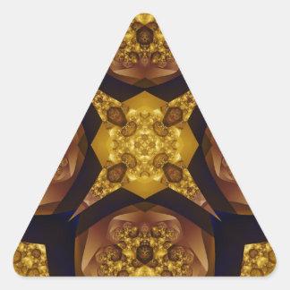 Fractal 536 pegatina triangular