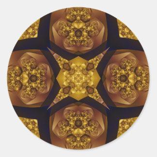 Fractal 536 pegatina redonda