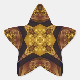 Fractal 536 pegatina en forma de estrella