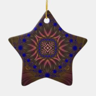 Fractal 538 adorno navideño de cerámica en forma de estrella