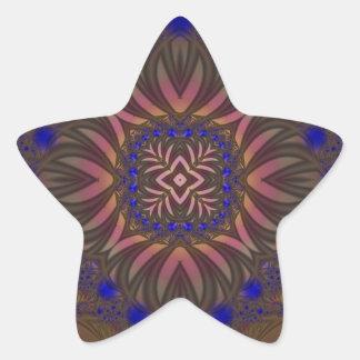 Fractal 538 pegatina en forma de estrella