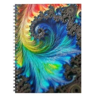 fractal-542158 Colorful digital fractal art backgr Notebook