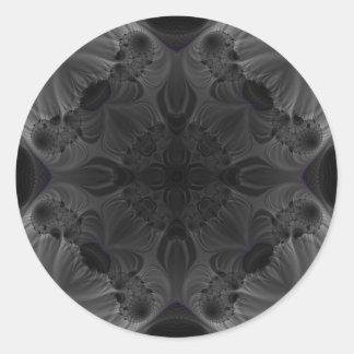 Fractal 563 classic round sticker