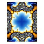 Fractal 581 del caleidoscopio tarjeta postal