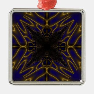 Fractal 597 metal ornament