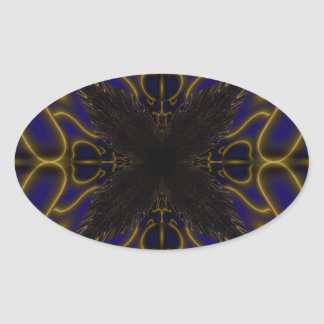 Fractal 597 oval sticker