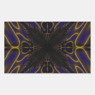 Fractal 597 rectangular sticker