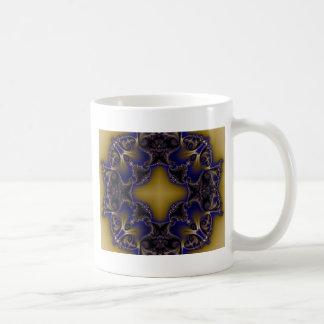 Fractal 611 classic white coffee mug