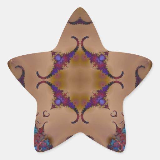 Fractal 624 pegatina en forma de estrella