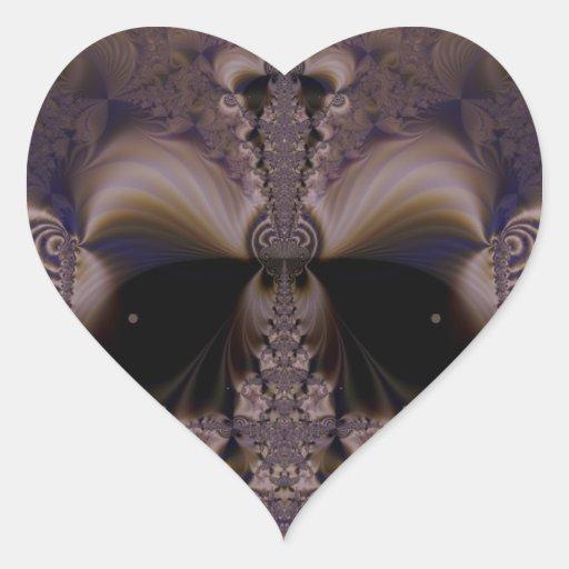 Fractal 62 calcomanías de corazones