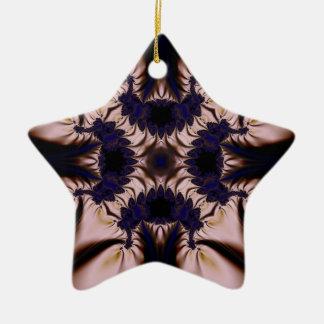 Fractal 645 ceramic ornament