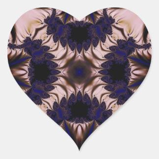 Fractal 645 heart sticker