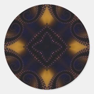 Fractal 647 pegatina redonda