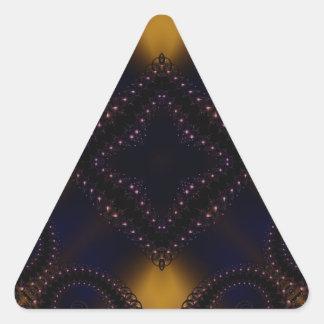 Fractal 647 pegatina triangular
