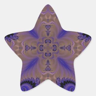 Fractal 659 star sticker
