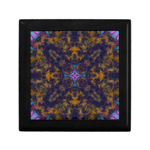 Fractal 669 del caleidoscopio cajas de recuerdo