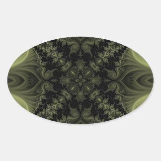 Fractal 669 oval sticker