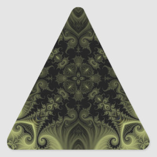Fractal 669 triangle sticker