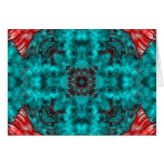 Fractal 671 del caleidoscopio tarjeta de felicitación